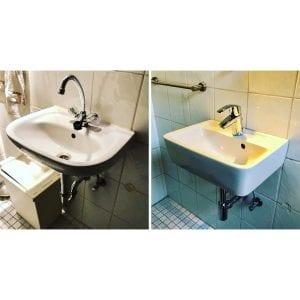 Erneuerung der gesammten Waschtischanlage