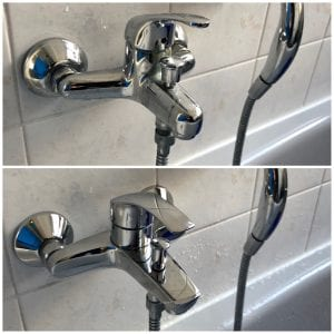 Erneuerung einer Badewannenarmatur