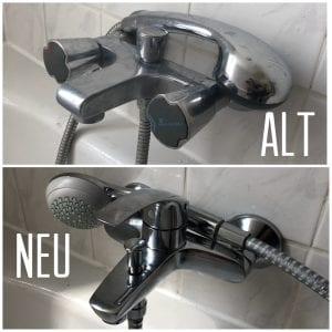 Erneuerung einer Badewannenarmatur mit Handbrause